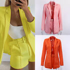 Women Office Uniform Business Suits Short Pants Blazer Suit Coat 2 Piece Set