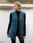 Women's Aran Wool Waistcoat 100% Irish Merino Wool by Aran Wollen Mills B850-443
