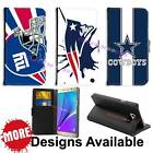 American Football Sports Team PU Leather Wallet Flip for Samsung Galaxy Phones $17.99 USD on eBay