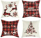 Mimacoo 24X24 Christmas Throw Pillow Covers, Decorative Outdoor Farmhouse Merry