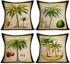 Asamour Summer Tree Throw Pillow Covers 18''X18'' Set Of 4 Hawaii Coconu