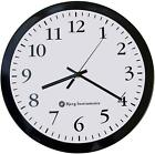 Bjerg Instruments Modern 12 Steel Enclosure Silent Wall Clock With Non Ticking