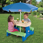 Kyпить Little Tikes Easy Store Kids Children Play Picnic Table with Umbrella на еВаy.соm
