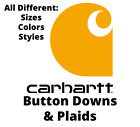 Carhartt Fort Plaid Long Sleeve Button down Shirt - Choose color and size