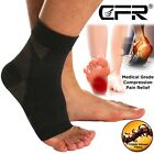 Copper Compression Socks Foot Plantar Fasciitis Arch Support Ankle Heel Brace US