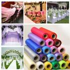 Roll Of Crystal Sheer Organza Fabric Tulle Roll Party Wedding Table Runner G