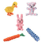 Dog Bite-resistant Toys Hand-knit Cute Animal Chewing Teeth Cleaning Cotton Rope