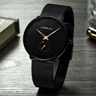 Men's Watch Relojes De Hombre Minimalist Ultra Thin Watches Stainless Steel  image