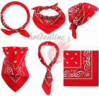3-12 pcs Bandana Scarves Paisley Head Face Mask Wrap Scarf 100% Cotton