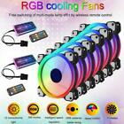 RGB LED Quiet Computer Case PC Cooling Fan 120mm with 1 Remote Control C7X3