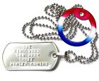 Personalized Polished Stainless Dog Tag, With Long Chain, Clasp & Silencer