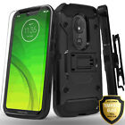 For Moto G7 Power / Play / Optimo Maxx / Revvlry Case + Tempered Glass Protector