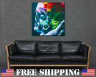 Graffiti Skull in Hand Colorful Gothic Wall Art Print Canvas Bright Living Room