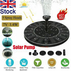 Solar Bird Bath Water Fountain Pump Kit For Home Garden Swimming Pool Pond Decor