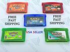 Pokemon GBA Game Boy Card Video Sapphire/Emerald/FireRed/LeafGreen/Ruby Pocket