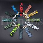 22mm Wrist Strap Camo Rubber Silicone Watch Band For Fossil CARLYLE HR Gen 5  image