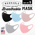 NEW 3D Unisex Face Mask Washable Reusable Breathable US Seller 5 Colors