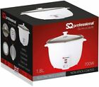 Electric Non Stick Rice Cooker Steamer Cooking Pot Sq Professional 1.0Ltr-1.8Ltr