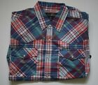 CANYON GUIDE OUTFITTERS men's ss western plaid pearl snap shirt choose sz/color