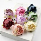 Flower Heads Bouquet Decoration Artificial Peony 10pcs Home Champagne Wedding