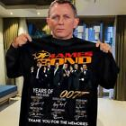 James Bond 007 Year Of 1962-2020 All Signed Fan Gifts Movie T-Shirt S-5XL $14.99 USD on eBay