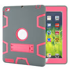 Heavy Duty Shockproof Rubber Stand Case Cover for iPad 4 3 2/Mini/Air 2/Pro 9.7""