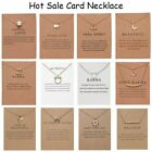Women Necklace Elephant Pendant Gold Clavicle Chains Choker Card Jewelry Gifts image
