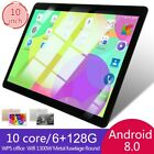 """10"""" Inch Android 8.0 Tablet Pc Hd 6+128g Core Wifi Dual Camera Gps Phablet Uk"""