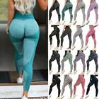 Women's Seamless Leggings Yoga Pants Sports High Waisted Fitness Gym Trousers Y4