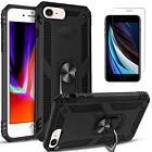 iPhone SE 2020 Case, Ring Kickstand Shockproof Cover + Tempered Glass Protector