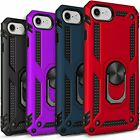iPhone SE 2020 Case, Ring Kickstand Shockproof Cover  Tempered Glass Protector