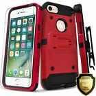 For iPhone SE (2020) Case, Belt Clip Kickstand Cover + Tempered Glass Protector