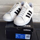 adidas Mens Boys Grand Court Cloudfoam Comfort Leather Sneaker New Retail 65