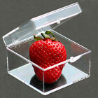 Clear PC Plastic Storage Boxes Square HQ With Lids Home Office Stackable Display
