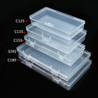 Clear PP Small Storage Rectangular Boxes Plastic Office Stackable With Lids