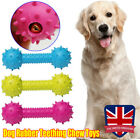 Dog Rubber Teething Chew Toy 14CM Big Bone Play Training Barbell Barbed Dumbbell