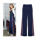 AVON Ladies Womens Navy Wide Leg Palazzo Elasticated Waist Trousers Size 10 12