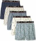 Badger Smith Men's 5 - Pack and 3 - Pack Cotton Print Multicolor Boxer Shorts