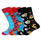 Mens Crew Socks 5 Day Match Up 5 Pack Sock Set Novelty Funny Funky Happy Cool