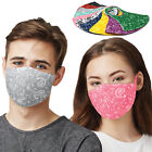 2 Pieces Washable  Reusable Paisley Face Masks Protective Bandanas Men Women