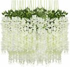 3.6 Feet Artificial Wisteria Hanging Garland Flowers Home Party Wedding Decor Us