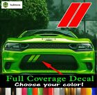 Custom Stripes Fits Dodge Charger 2015-2019 Hash Marks Front Bumper Decal $11.95 USD on eBay