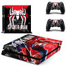 Spider-Man Vinyl Decal Skin Stickers for Sony PS4 Console & 2 Controllers