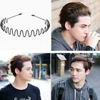 Hair Band Hoop & Teeth Accessories Men Women Black Metal Headband Wave O7f7