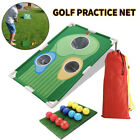 Hole Outdoor Hitting Net Golf Training Aid Indoor Golf Practice Board Straw Mat