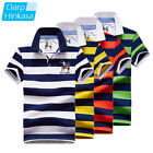 Men Slim Polo Breathable Cotton Short Sleeve Fashion Golf Casual T Shirts Tees