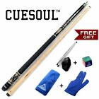 CUESOUL Canadian Maple Wood Black Pool Cue Stick Billiard Cue