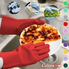 1 Pair Magic Scrubber Silicone Dishwashing Gloves For Home Cleaning