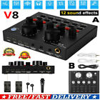 V8 Audio External USB Headset Mic Webcast Live Sound Card For Phone Computer PC