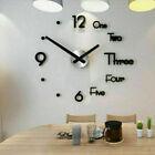 3D DIY Extra Large Roman Numerals Luxury Mirror Wall Sticker Clock Home Decor a